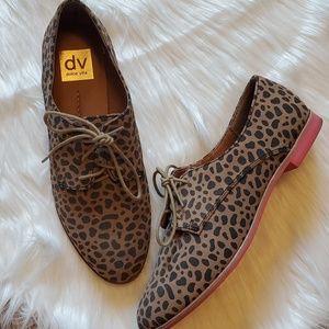 Cheetah print oxford shoes